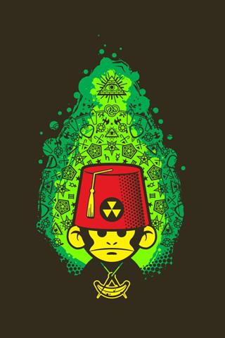 Toxic Monkey IPhone Wallpaper