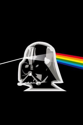 Darth Vader Prism iPhone Wallpaper