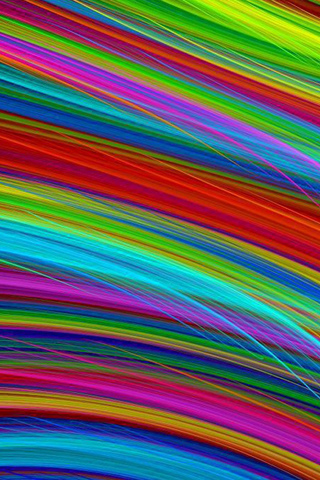 Rainbow Fiber iPhone Wallpaper