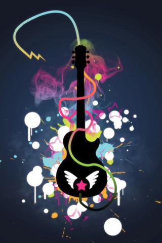 Guitar Art iPhone Wallpaper