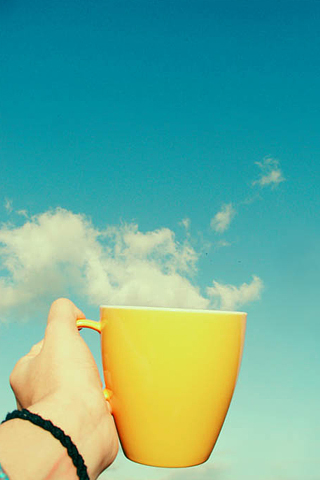 Cup of Cloud iPhone Wallpaper
