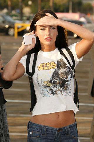 Megan Fox - Star Wars Fan iPhone Wallpaper