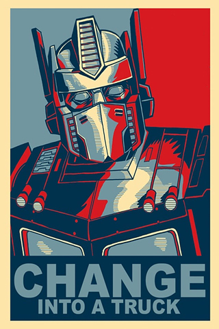 Optimus Prime On Change iPhone Wallpaper