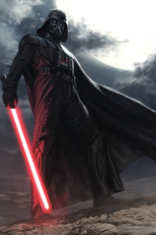 Darth Vader Painting IPhone Wallpaper