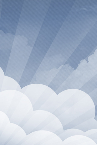 Cloud Vector iPhone Wallpaper