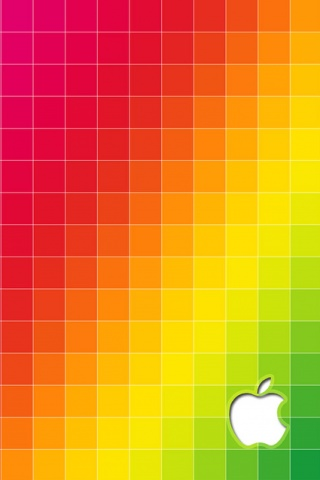 Coloured Grid iPhone Wallpaper