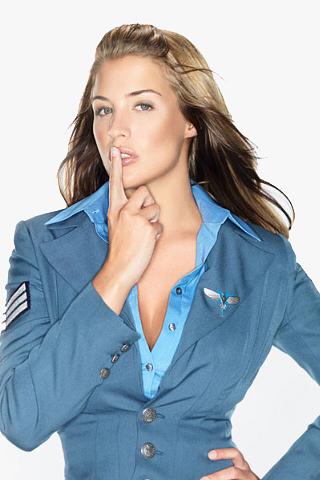 Lt. Eva McKenna - Gemma Atkinson iPhone Wallpaper