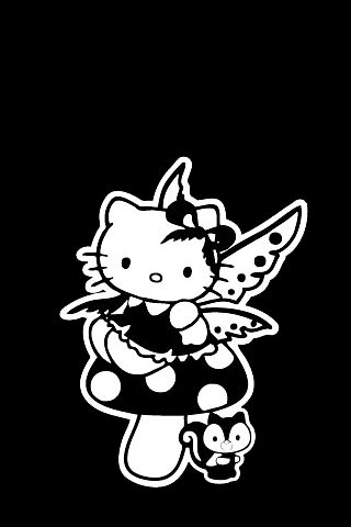 Gothic Hello Kitty iPhone Wallpaper