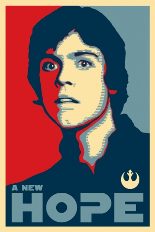 Luke Skywalker - Hope iPhone Wallpaper