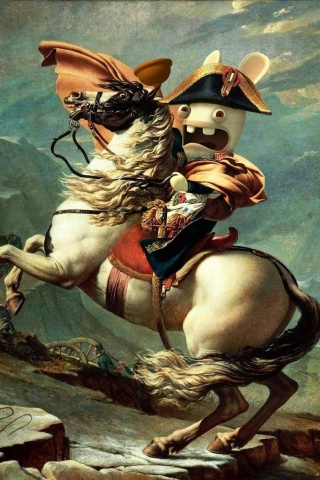 Napoleon Bunny iPhone Wallpaper
