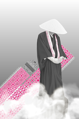 Japanese Monk iPhone Wallpaper