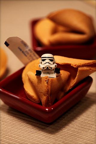 Fortune Cookie Stormtrooper iPhone Wallpaper