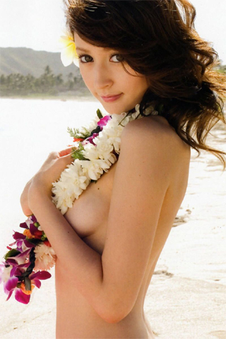 Leah Dizon Aloha iPhone Wallpaper