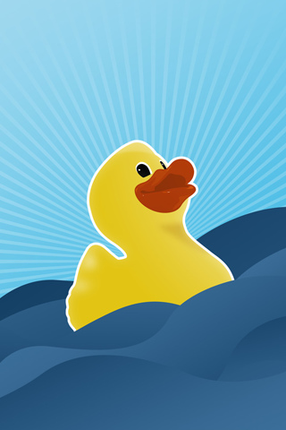 Happy Rubber Ducky iPhone Wallpaper