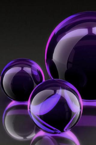 Purple crystal balls iphone wallpaper idesign iphone for Purple wallpaper 3d