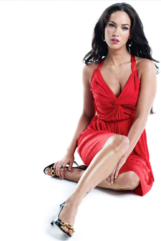 Megan Fox Red Dress iPhone Wallpaper