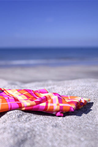 Beach Scarf iPhone Wallpaper