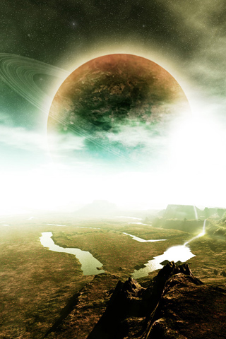 Planetary Scene iPhone Wallpaper
