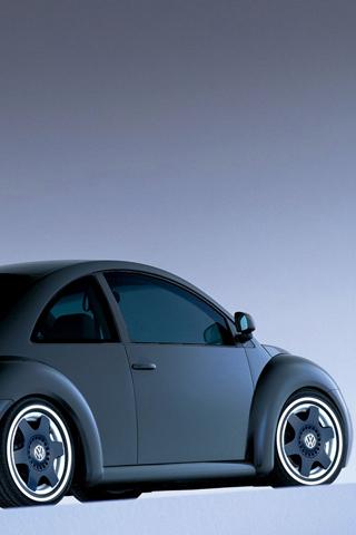 VW Beetle - Matte Black iPhone Wallpaper