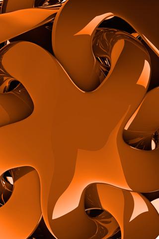 Orange Arms iPhone Wallpaper