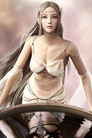 Light Goddess - Shaiya iPhone Wallpaper