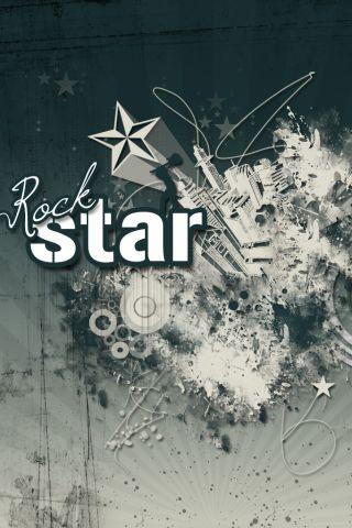 Rock Star iPhone Wallpaper