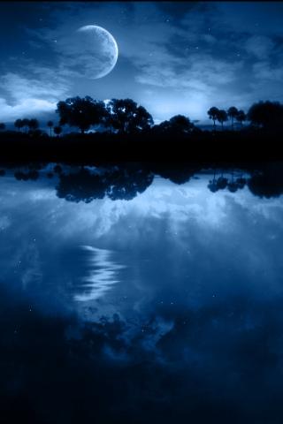 Pristine Lake iPhone Wallpaper