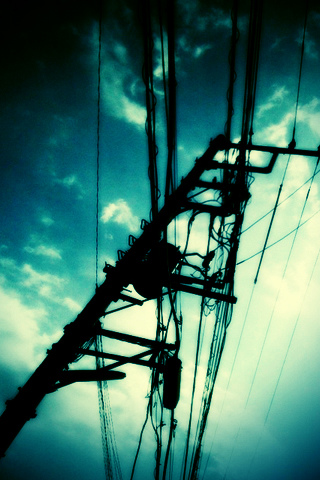 Power Lines iPhone Wallpaper