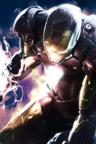 Ironman Charged iPhone Wallpaper