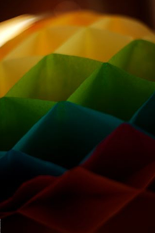 Coloured Paper Squares iPhone Wallpaper