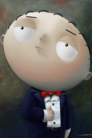 Stewie Griffin Portrait iPhone Wallpaper