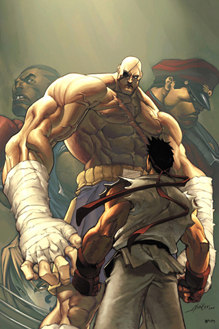 Street Fighter Match Up iPhone Wallpaper