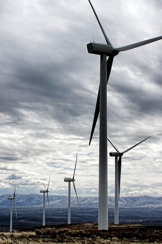 Wind Turbine Farm iPhone Wallpaper