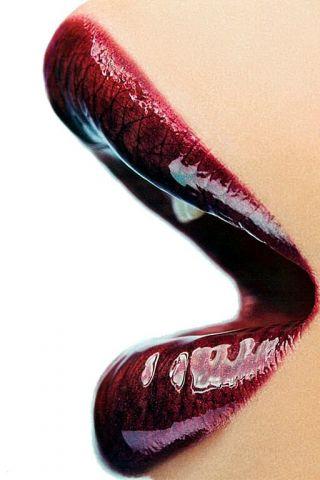 Dark Red Lips iPhone Wallpaper