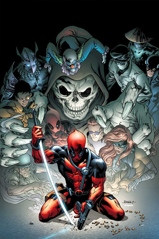 Deadpool – Tom Raney iPhone Wallpaper