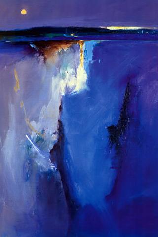 Violet Horizon - Peter Wileman iPhone Wallpaper