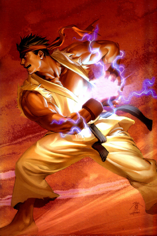 Ryu - Hadouken iPhone Wallpaper