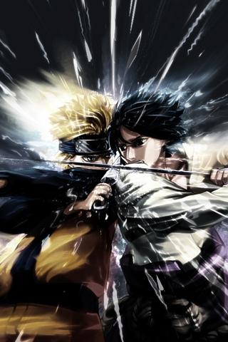 Naruto VS Sasuke IPhone Wallpaper