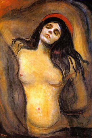 Madonna - Edvard Munch iPhone Wallpaper