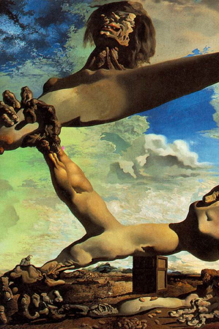 Premonition of Civil War - Salvador Dali iPhone Wallpaper