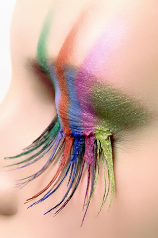 Colorful Lashes iPhone Wallpaper