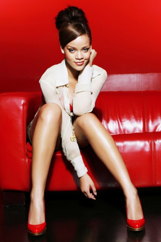 Rihanna Red Theme iPhone Wallpaper
