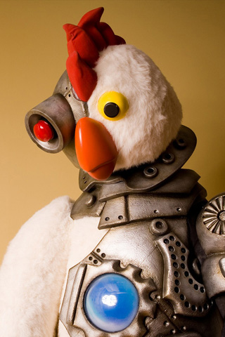 Robot Chicken Doll iPhone Wallpaper