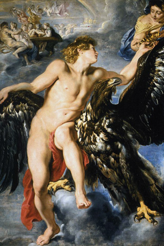 The Abduction of Ganymede - Peter Paul Rubens iPhone Wallpaper