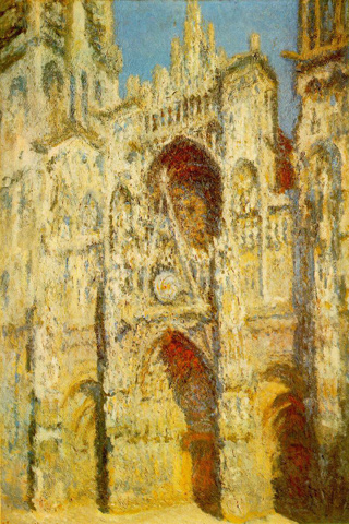 The Rouen Cathedral - Claude Monet iPhone Wallpaper