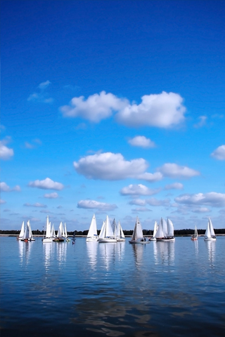Sailboats iPhone Wallpaper