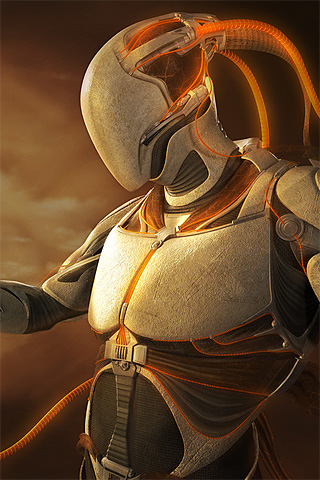 Robot Man iPhone Wallpaper