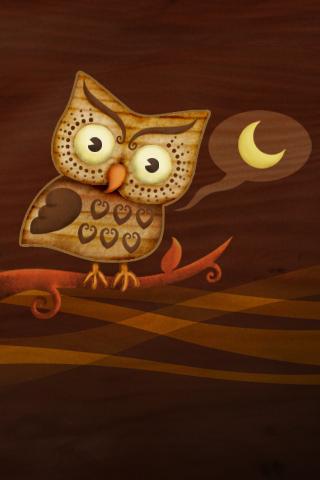Night Owl Hoot iPhone Wallpaper