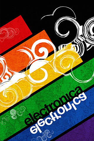 Electronica iPhone Wallpaper