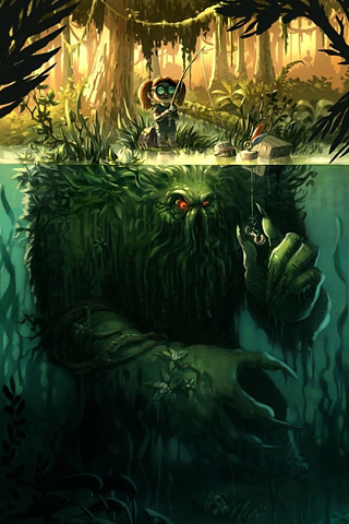 Monster Catch iPhone Wallpaper